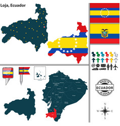 Map of loja ecuador vector
