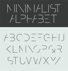Minimalist alphabet vector image vector image