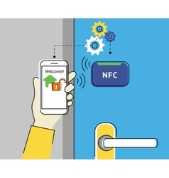 Mobile access to home vector image
