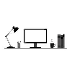 Modern workstation - vektor flat style vector