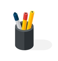Pen box vector image
