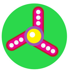 Pink spinner with white balls vector