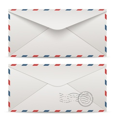 Postage envelopes vector image vector image
