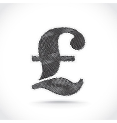 Pound sign vector image