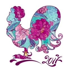 Rooster image symbol of 2017 on the chinese vector