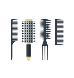 Set flat combs isolated on white background - vector image