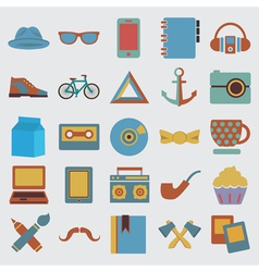 Set of hipster symbol - vector image vector image