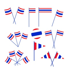 Set of thai flag on white background vector