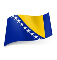 State flag of bosnia and herzegovina vector