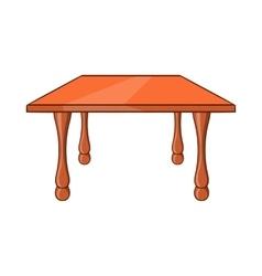 Table icon cartoon style vector