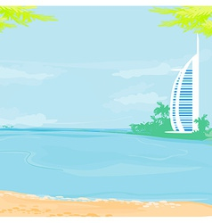 The Burj Al Arab Hotel in Dubai vector image