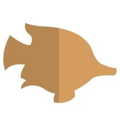 Tropical fish silhouette icon vector