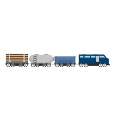 Cargo train rail transport vehicle vector