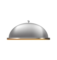 Restaurant dome bell vector