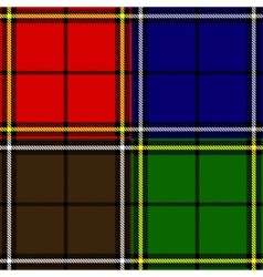 Set of plaid fabric patterns vector