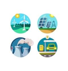 Energy saving technologies vector