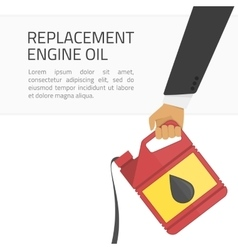 Replacement engine oil banner vector