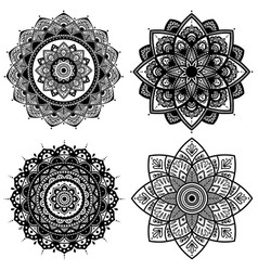Mandala set indian antistress medallion abstract vector