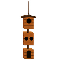 Birdhouse design with wood vector
