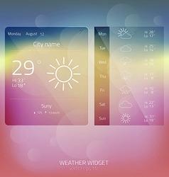 weather widget 3 vector image