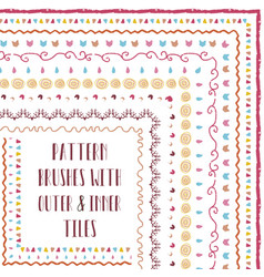 pattern brushes with outer and inner corner vector image