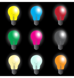 Color light bulbs - light source eps10 vector