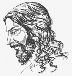 Jesus gentle sight vector