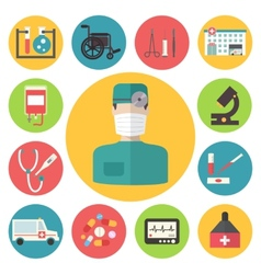 Medical icons set healthcare infographic elements vector