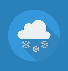 Weather flat icon snow vector