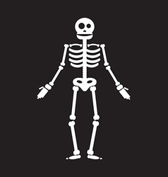 Happy Halloween skeleton vector image