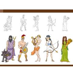 greek gods set vector image