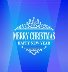Happy new year message merry christmas holidays vector