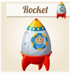 Toy rocket cartoon  series of vector