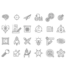 Black engineering icons set vector