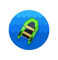 Inflatable boat icon summer vacation vector