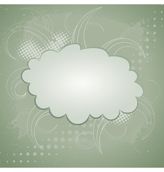 Abstract retro background with cloud vector image