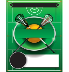 Lacrosse tourney blank flyer vector