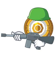 Army komodo coin character cartoon vector