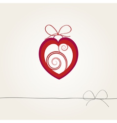 background with a heart vector image
