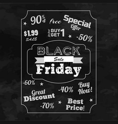 Black friday sale monochrome background vector