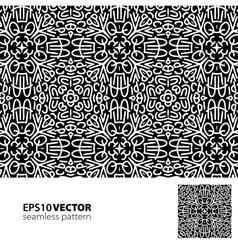 Black-white pattern 2 vector image vector image