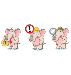 Brown Elephant Mascot with money vector image vector image