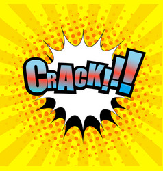 Comic crack wording template vector