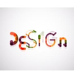 Design word font concept vector image