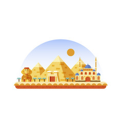 egypt icon in flat style vector image vector image