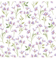 Floral ornamental white seamless pattern flower vector