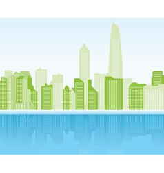 green city background - shanghai vector image vector image