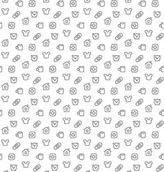 Home things pattern seamless vector image vector image