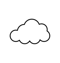 Isolated cloud symbol vector image