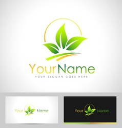 Leaf Logo Concept vector image vector image